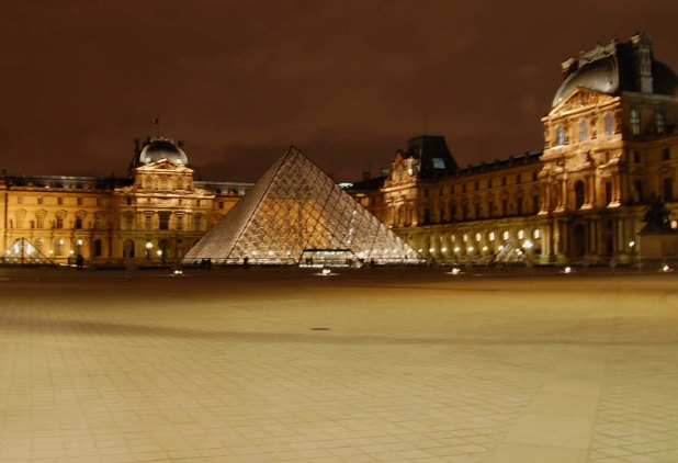 Louvre at dusk
